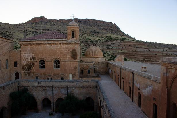 Deyrulzafaran Monastery Courtyard