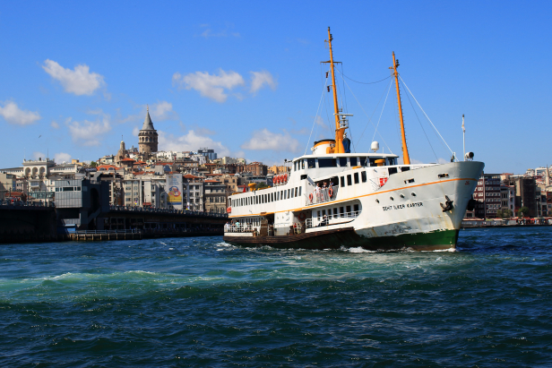 Istanbul Ferry Galata Tower