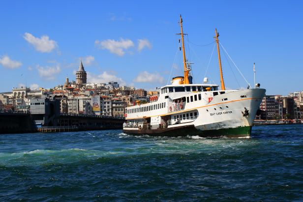 Istanbul Ferry Galata Tower