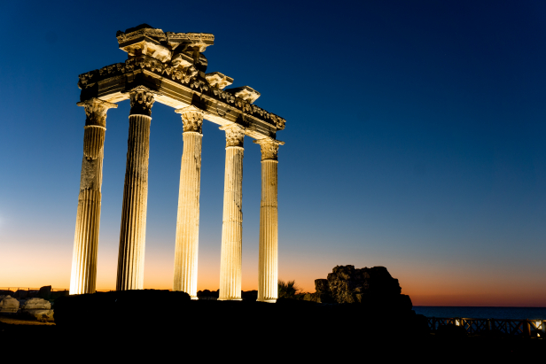 Side Temple Athena Apollo